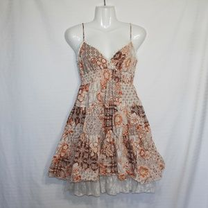 Studio Y Sparkly Sz M Summer Dress Lace Patchwork